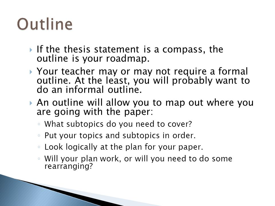 what does thesis and roadmap mean How to write a phd thesis  what you did towards solving it, what you think your results mean, and where or how further progress in the field can be made.