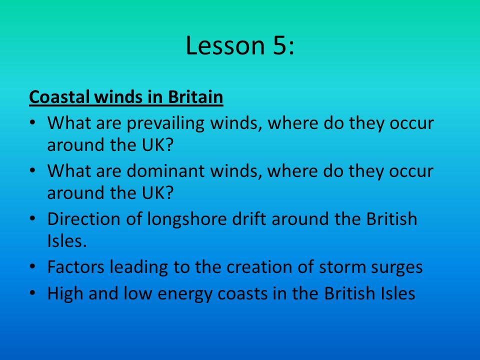 Lesson 5: Coastal winds in Britain