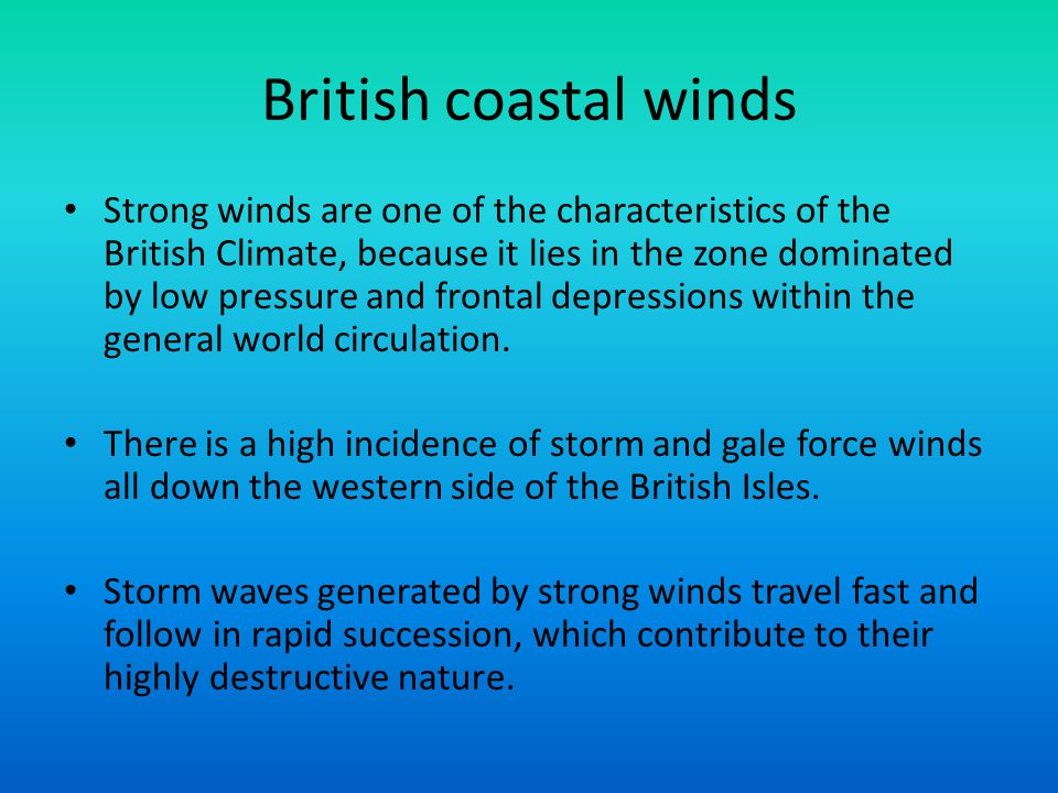 British coastal winds