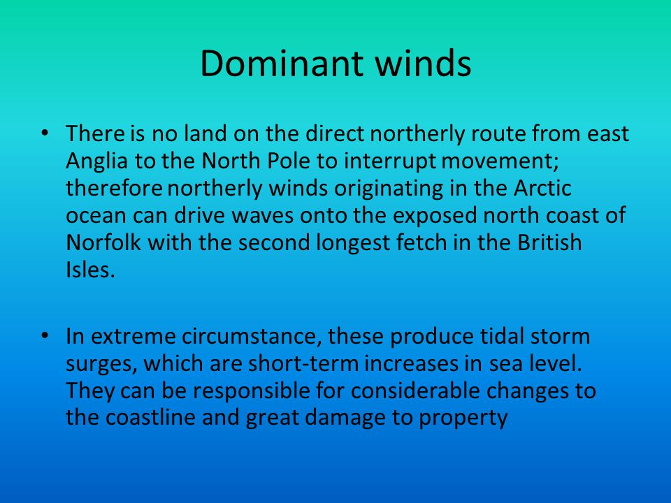 Dominant winds