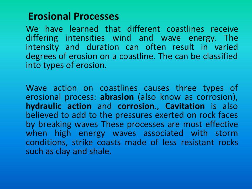 Erosional Processes
