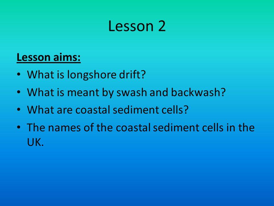 Lesson 2 Lesson aims: What is longshore drift