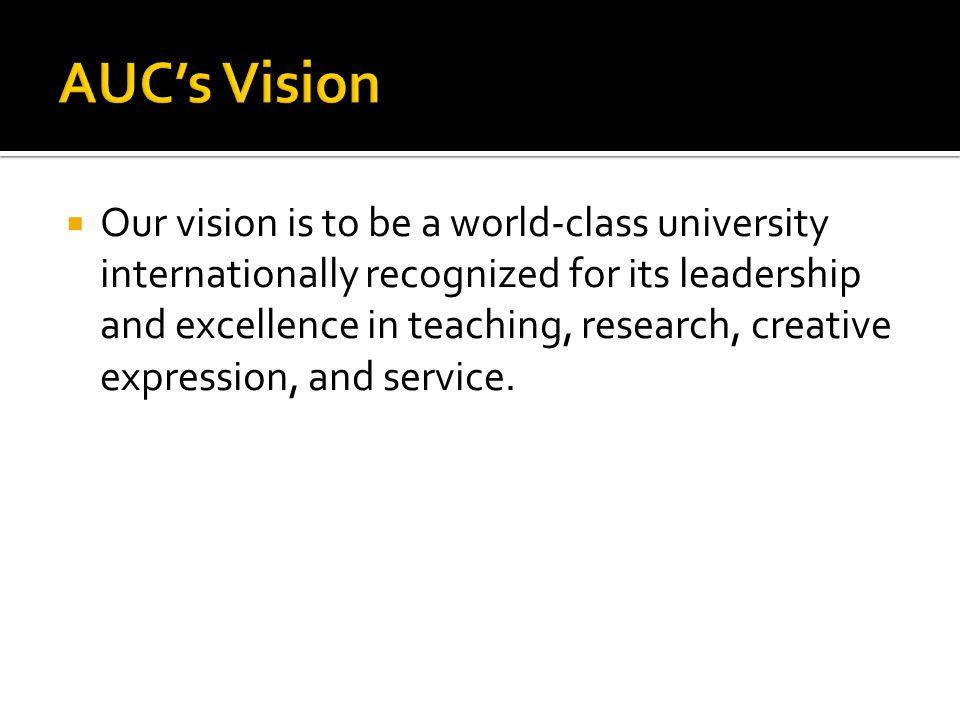 AUC's Vision