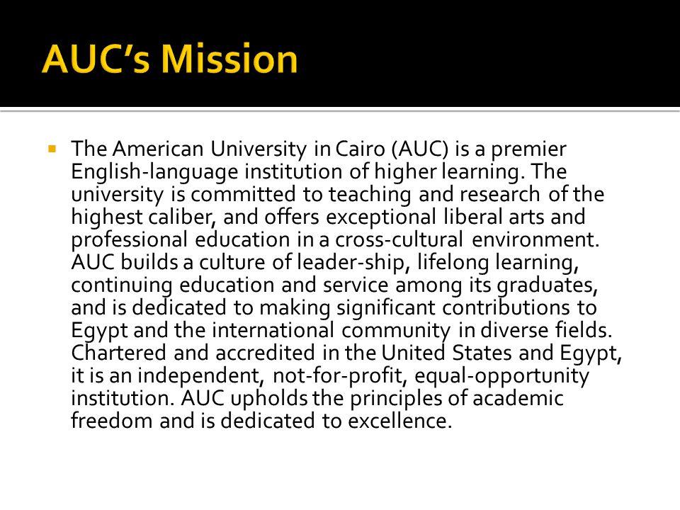 AUC's Mission