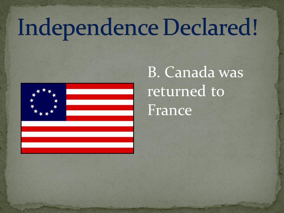 Independence Declared!