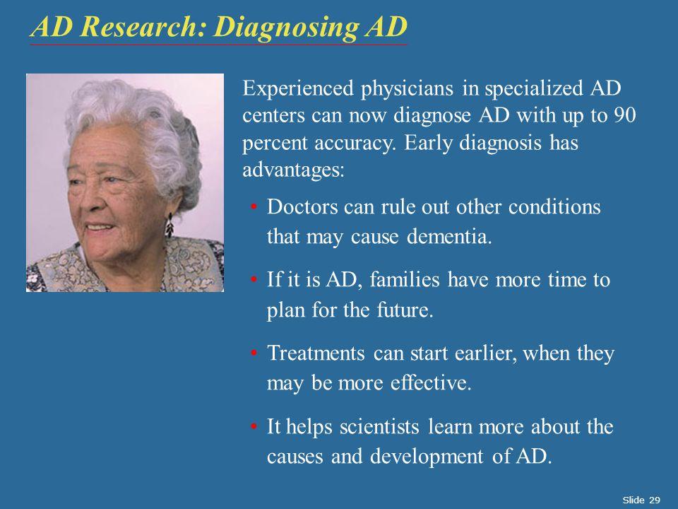 AD Research: Diagnosing AD
