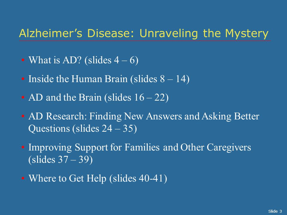 Alzheimer's Disease: Unraveling the Mystery