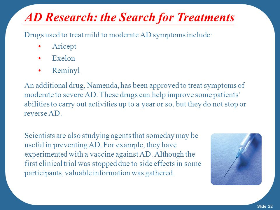 AD Research: the Search for Treatments