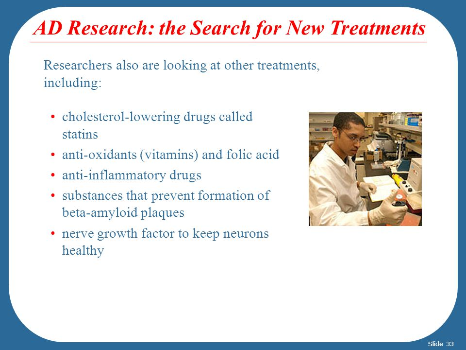 AD Research: the Search for New Treatments