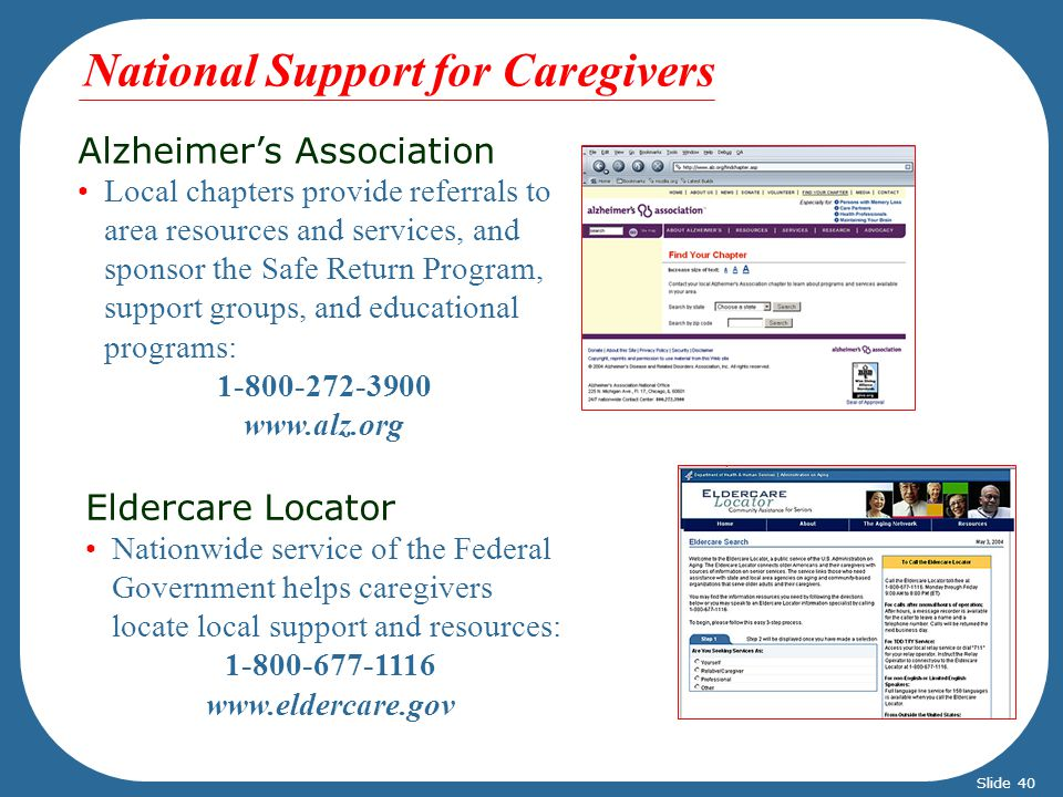 National Support for Caregivers