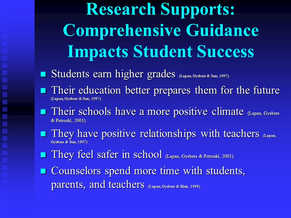 Research Supports: Comprehensive Guidance Impacts Student Success