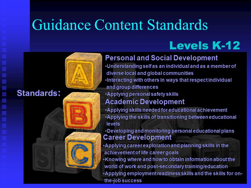 Guidance Content Standards