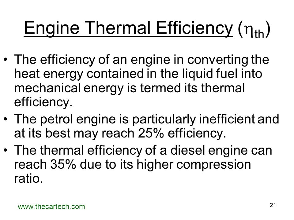 Engine Thermal Efficiency (th)