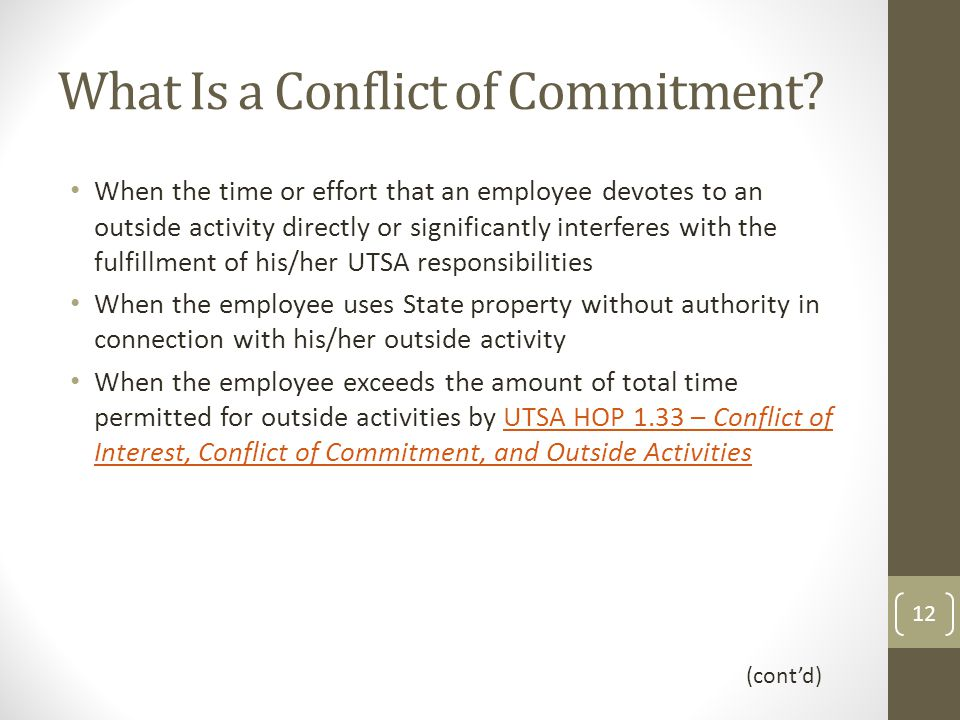What Is a Conflict of Commitment