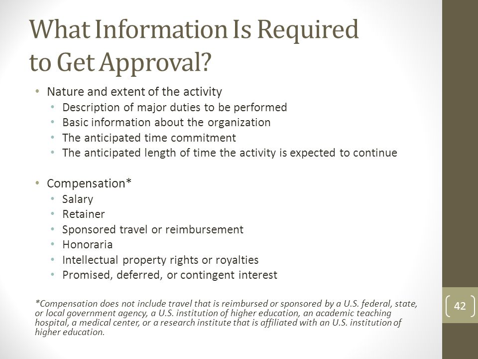 What Information Is Required to Get Approval
