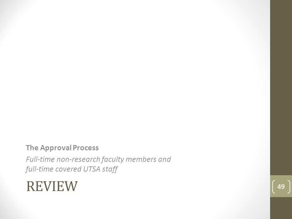 Review The Approval Process
