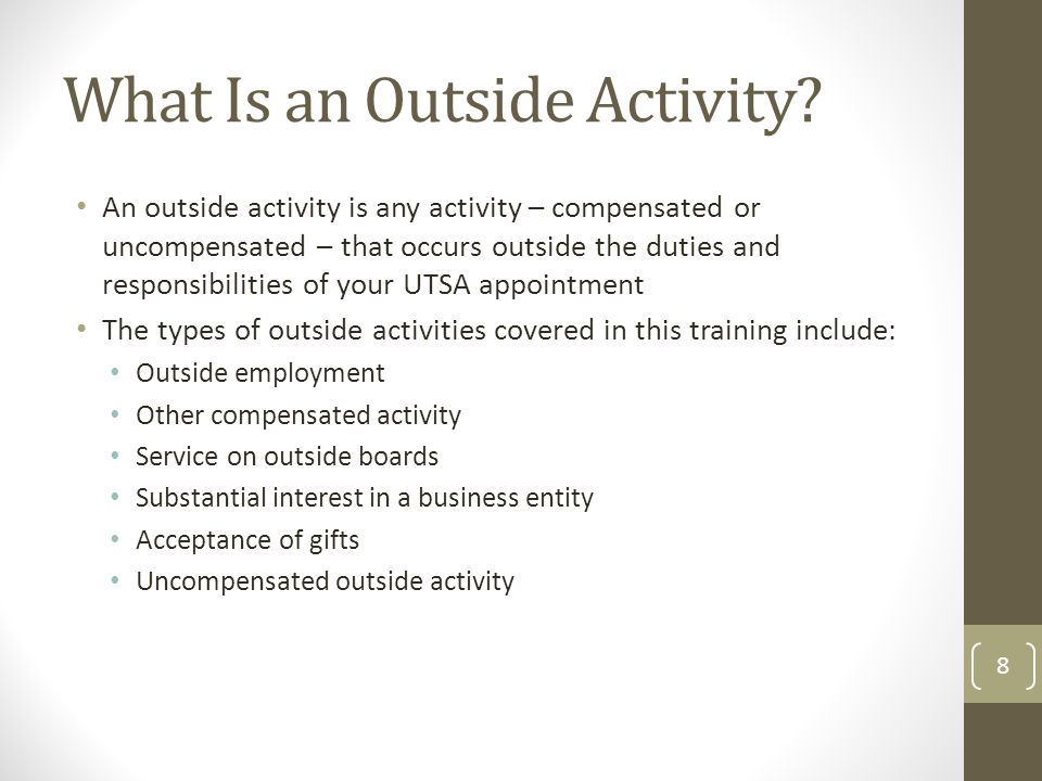 What Is an Outside Activity