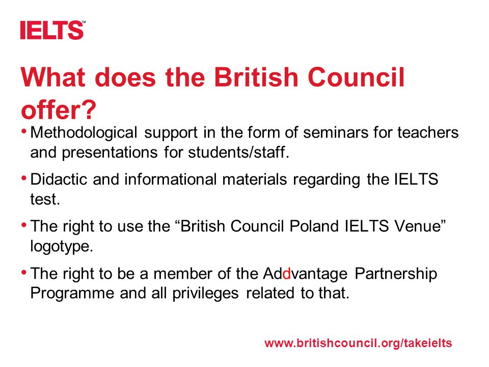 What does the British Council offer