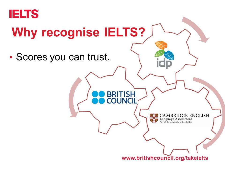 Why recognise IELTS Scores you can trust.