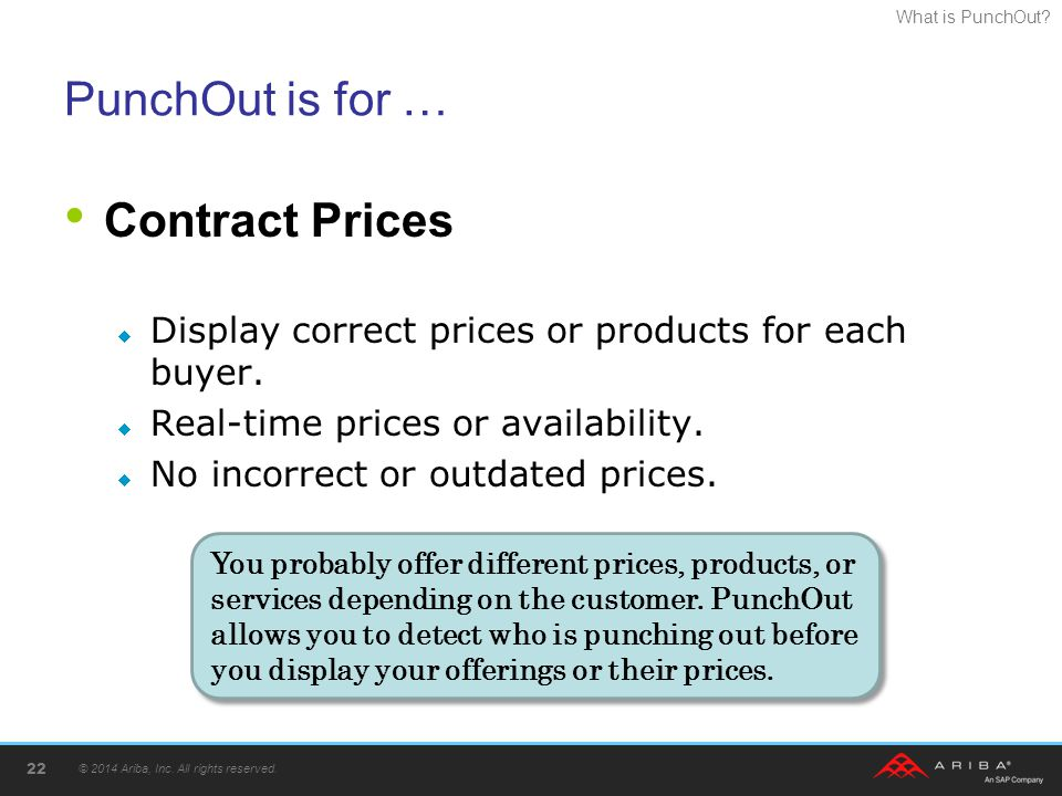 PunchOut is for … Contract Prices
