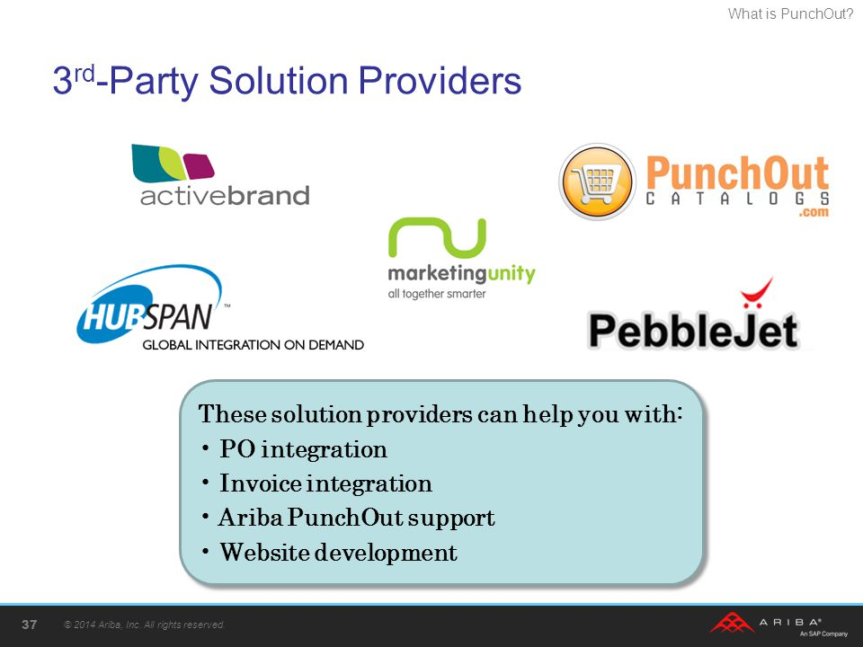 3rd-Party Solution Providers