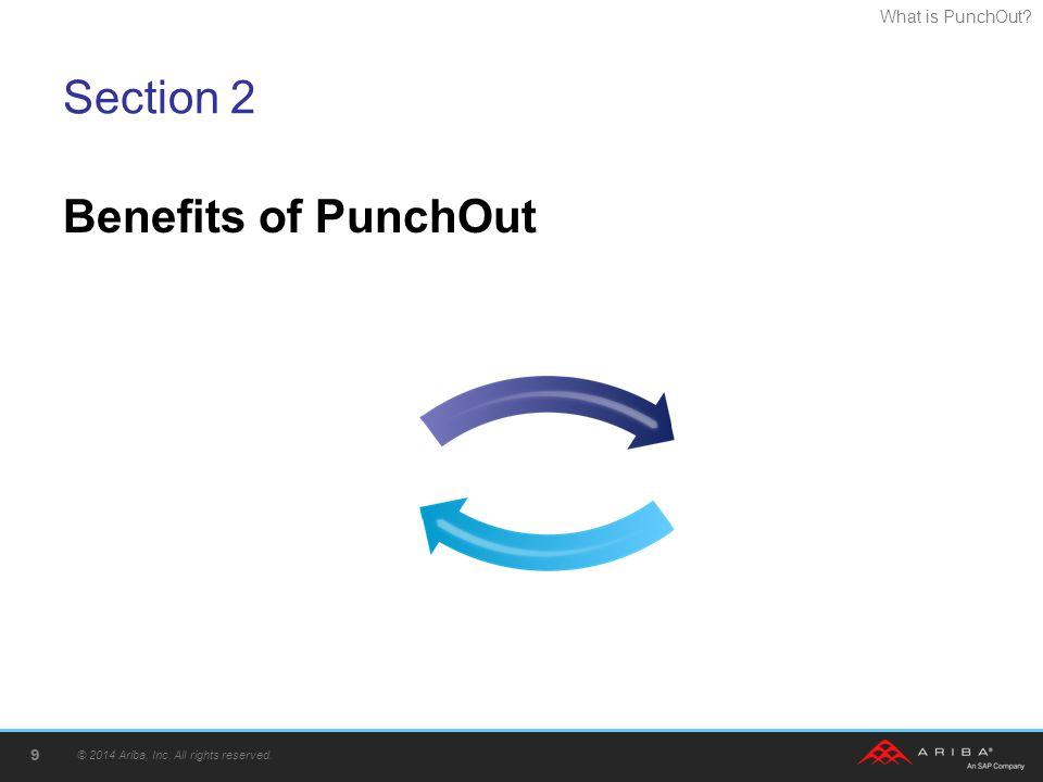 Section 2 Benefits of PunchOut © 2014 Ariba, Inc. All rights reserved.