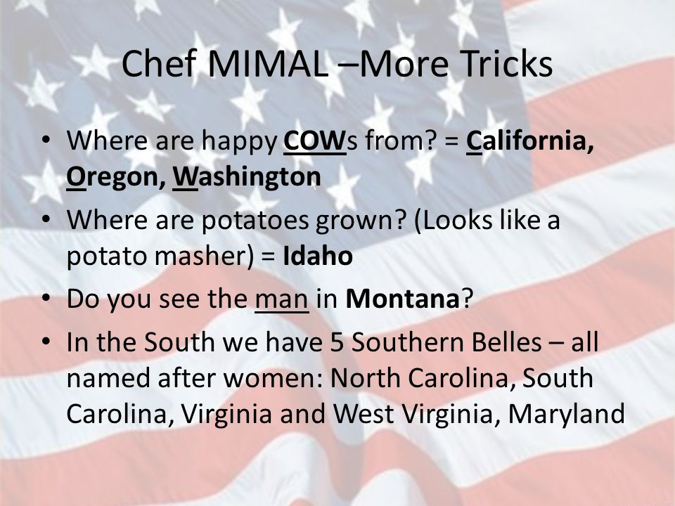 Chef MIMAL –More Tricks