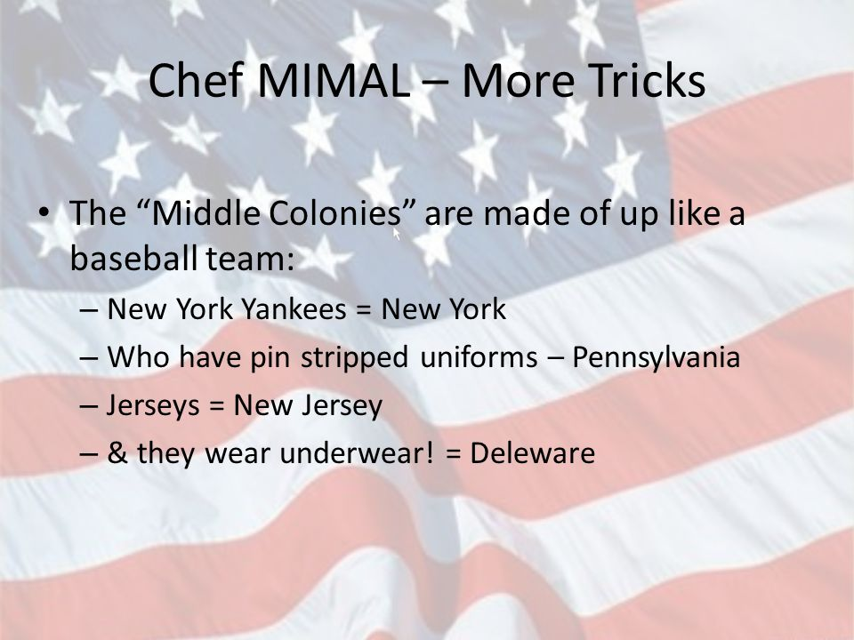 Chef MIMAL – More Tricks