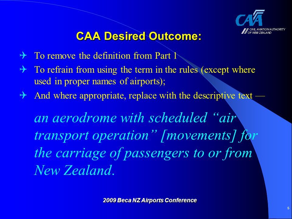 2009 Beca NZ Airports Conference