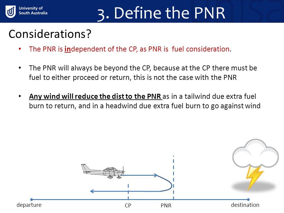 3. Define the PNR Considerations