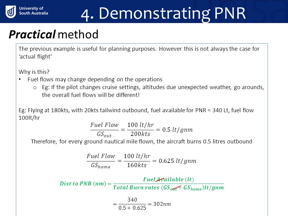 4. Demonstrating PNR Practical method