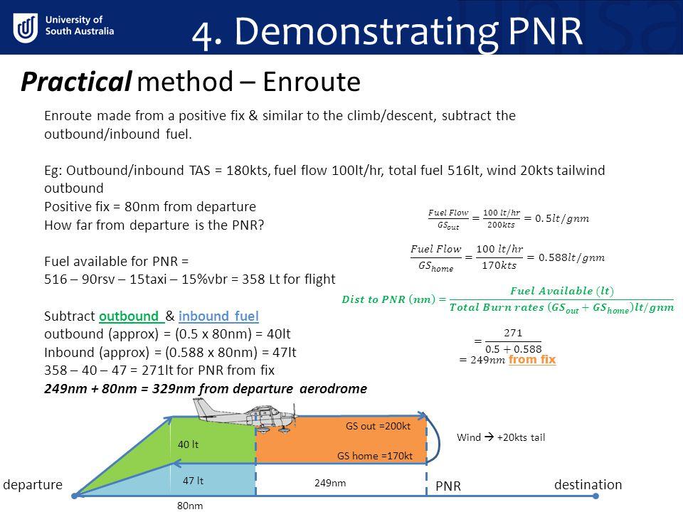 4. Demonstrating PNR Practical method – Enroute