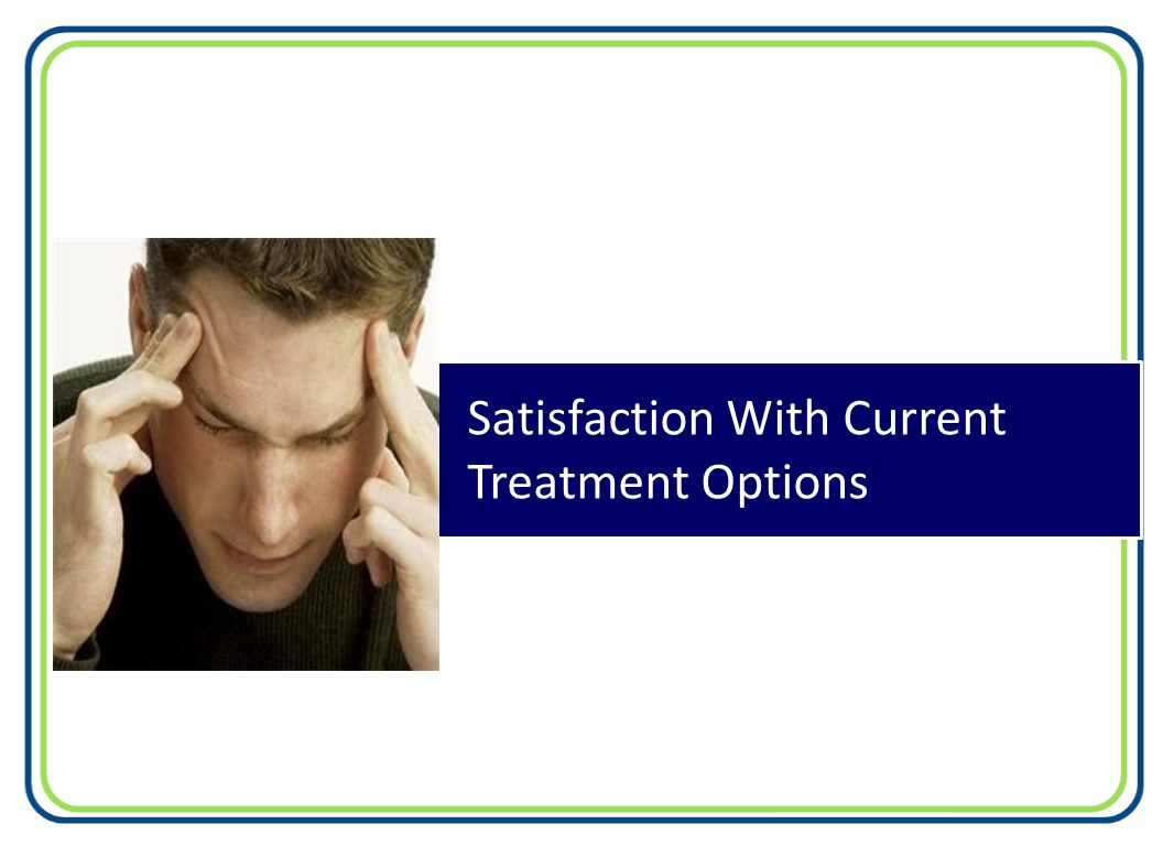 Satisfaction With Current Treatment Options