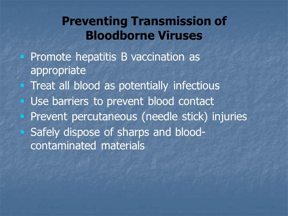 Preventing Transmission of