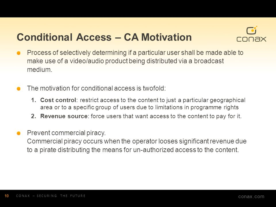 Conditional Access – CA Motivation
