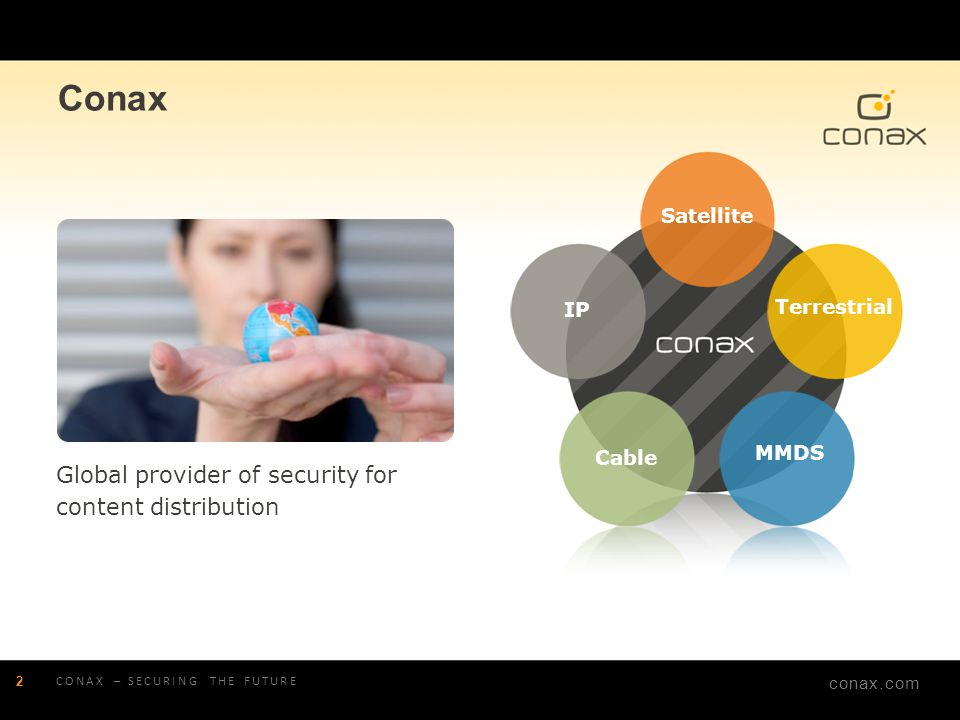 Conax Global provider of security for content distribution Satellite