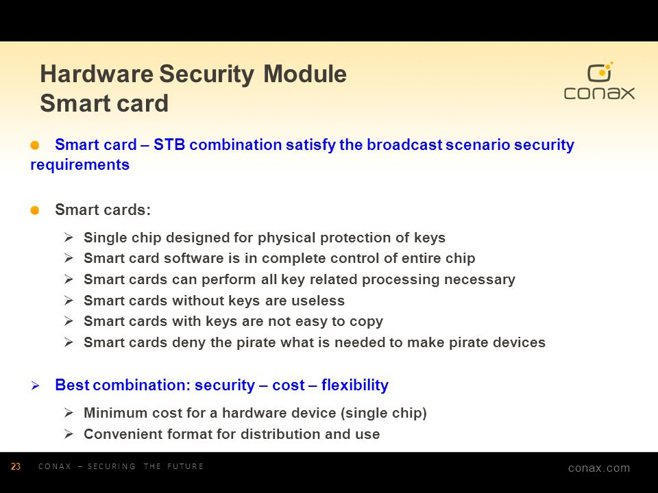Hardware Security Module Smart card
