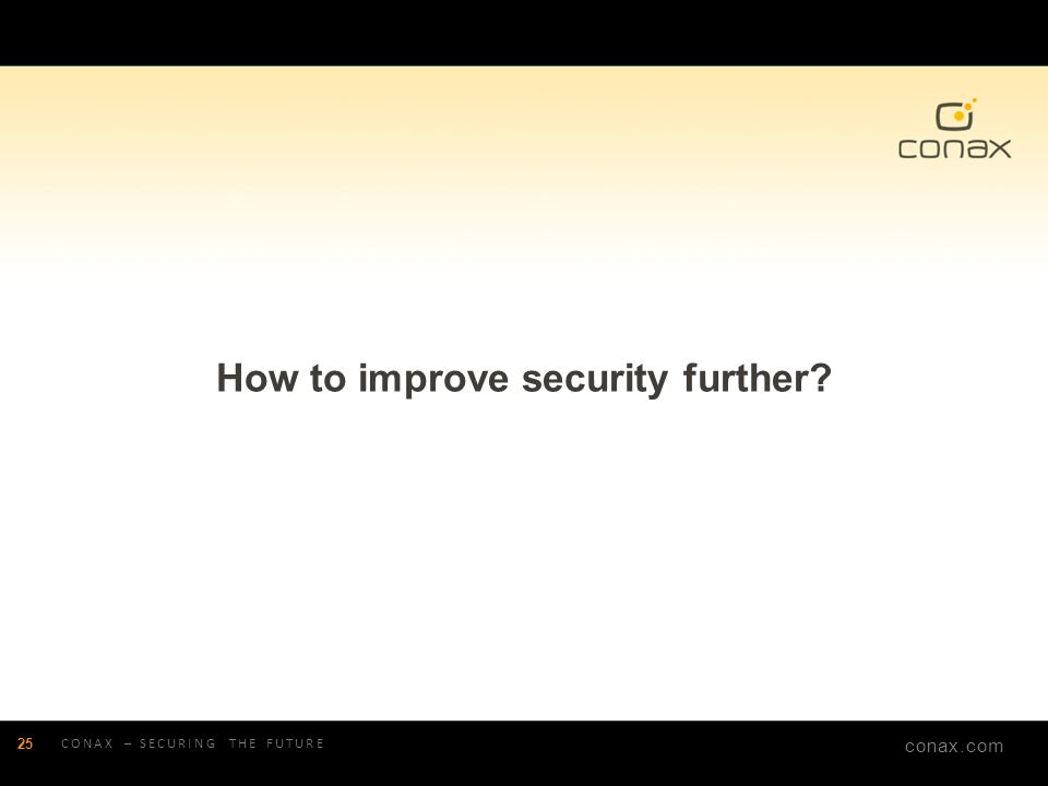 How to improve security further