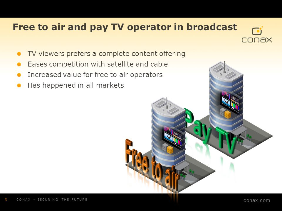 Pay TV Free to air Free to air and pay TV operator in broadcast