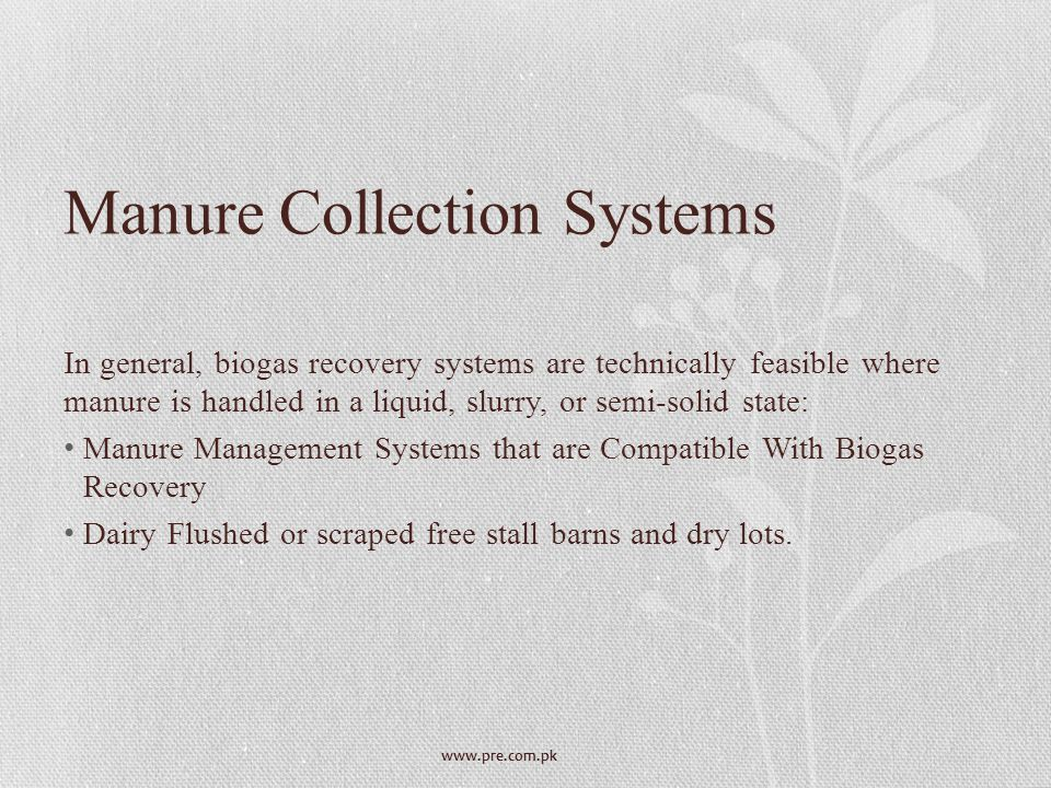 Manure Collection Systems