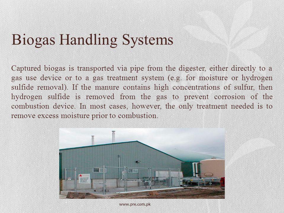 Biogas Handling Systems