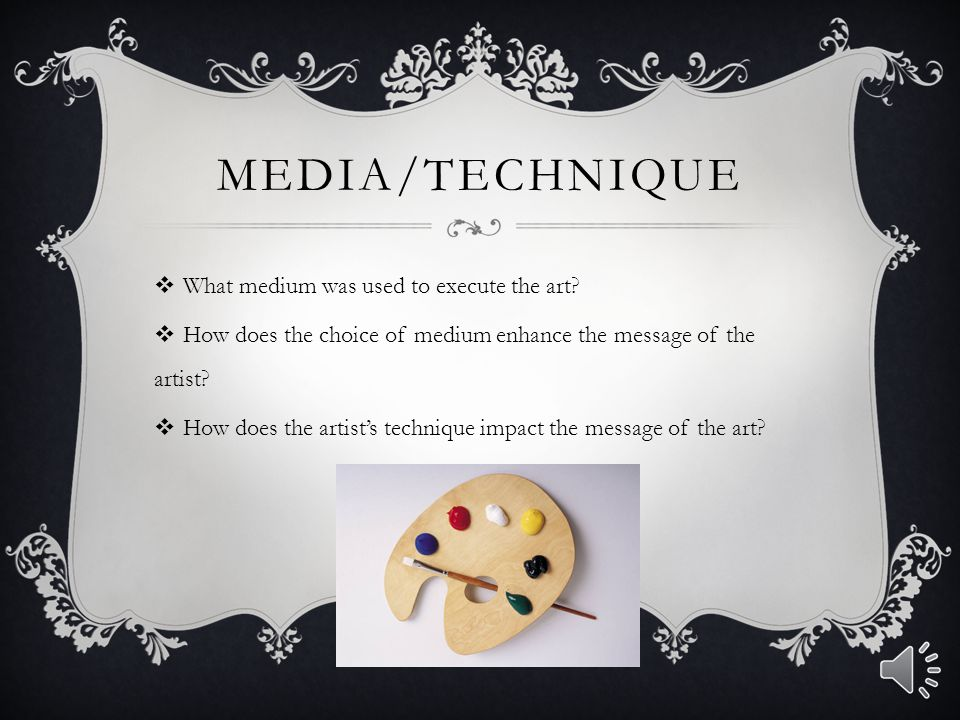 Media/Technique What medium was used to execute the art