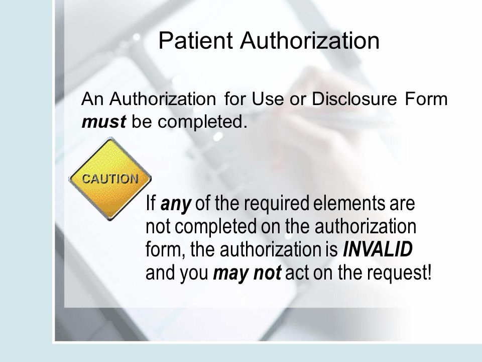Patient Authorization