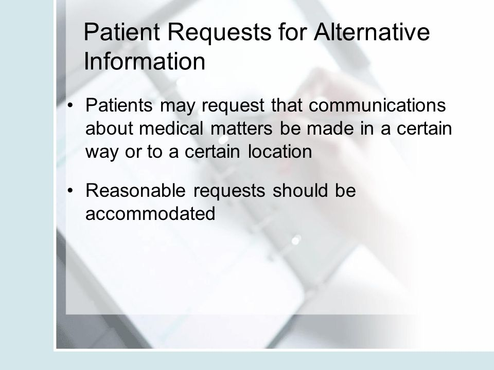 Patient Requests for Alternative Information