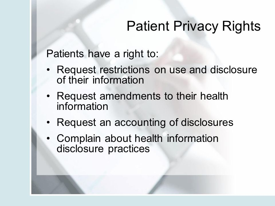 Patient Privacy Rights