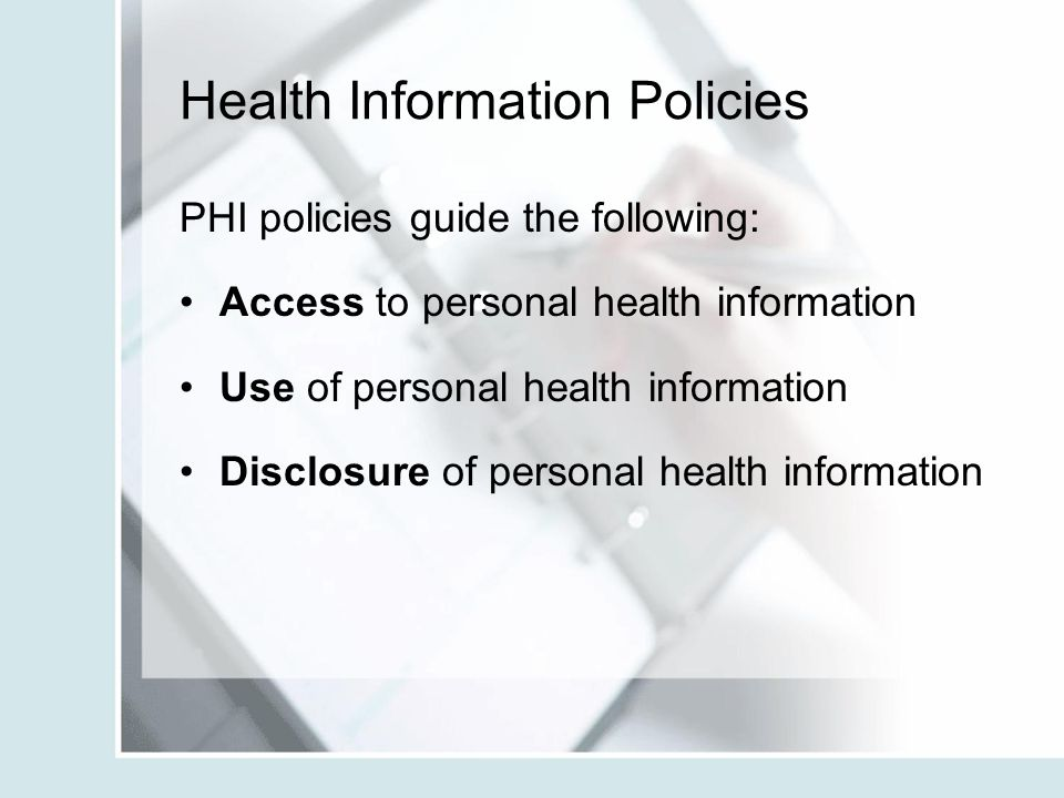 Health Information Policies