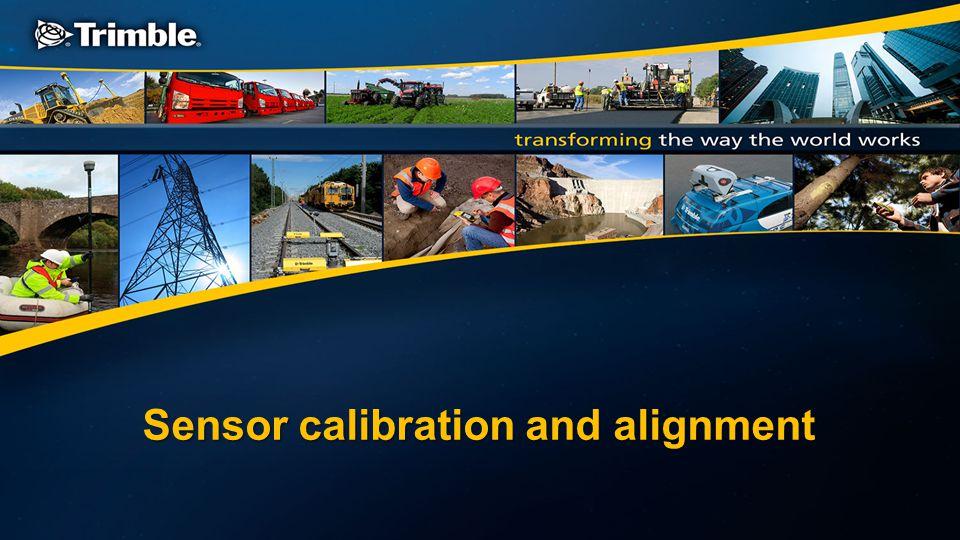 Sensor calibration and alignment