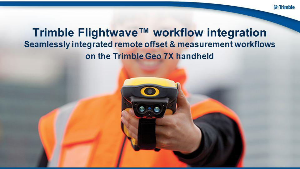 on the Trimble Geo 7X handheld
