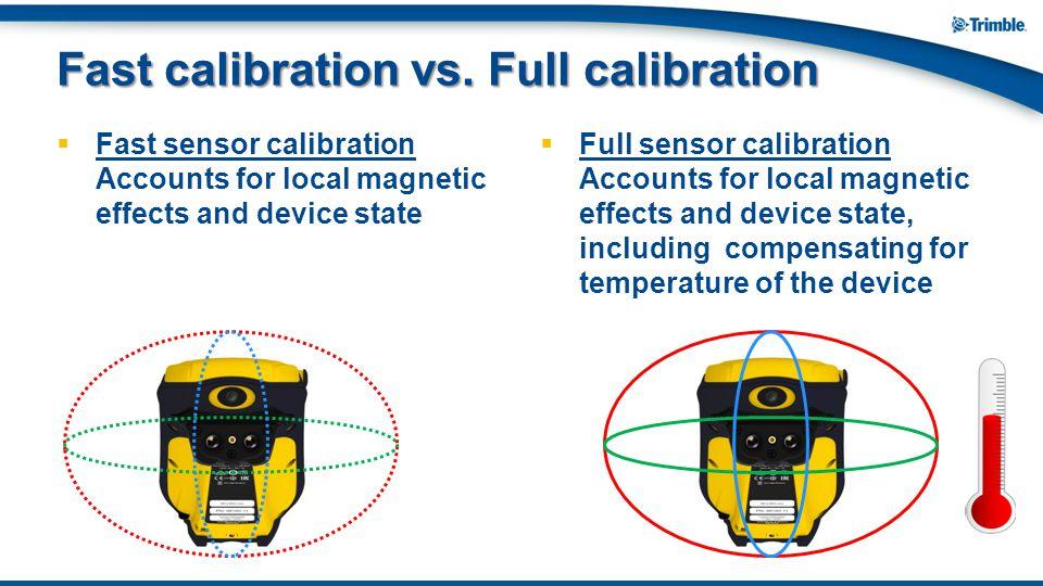 Fast calibration vs. Full calibration