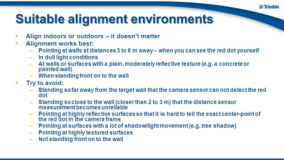Suitable alignment environments